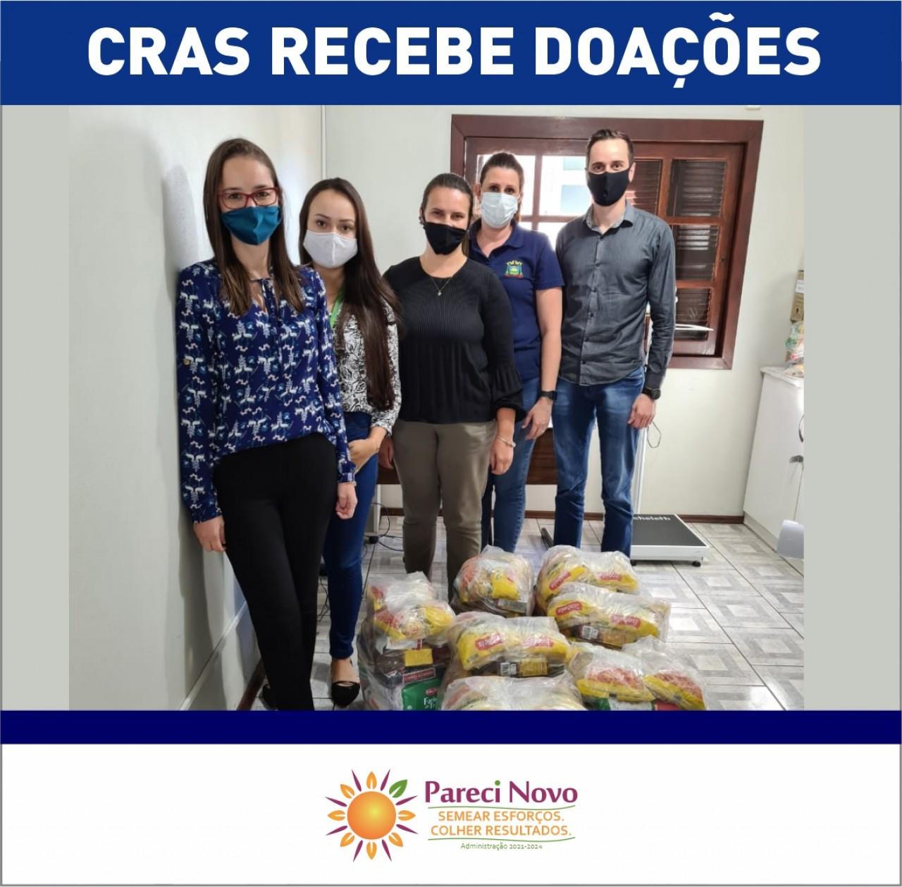 CRAS recebe doação