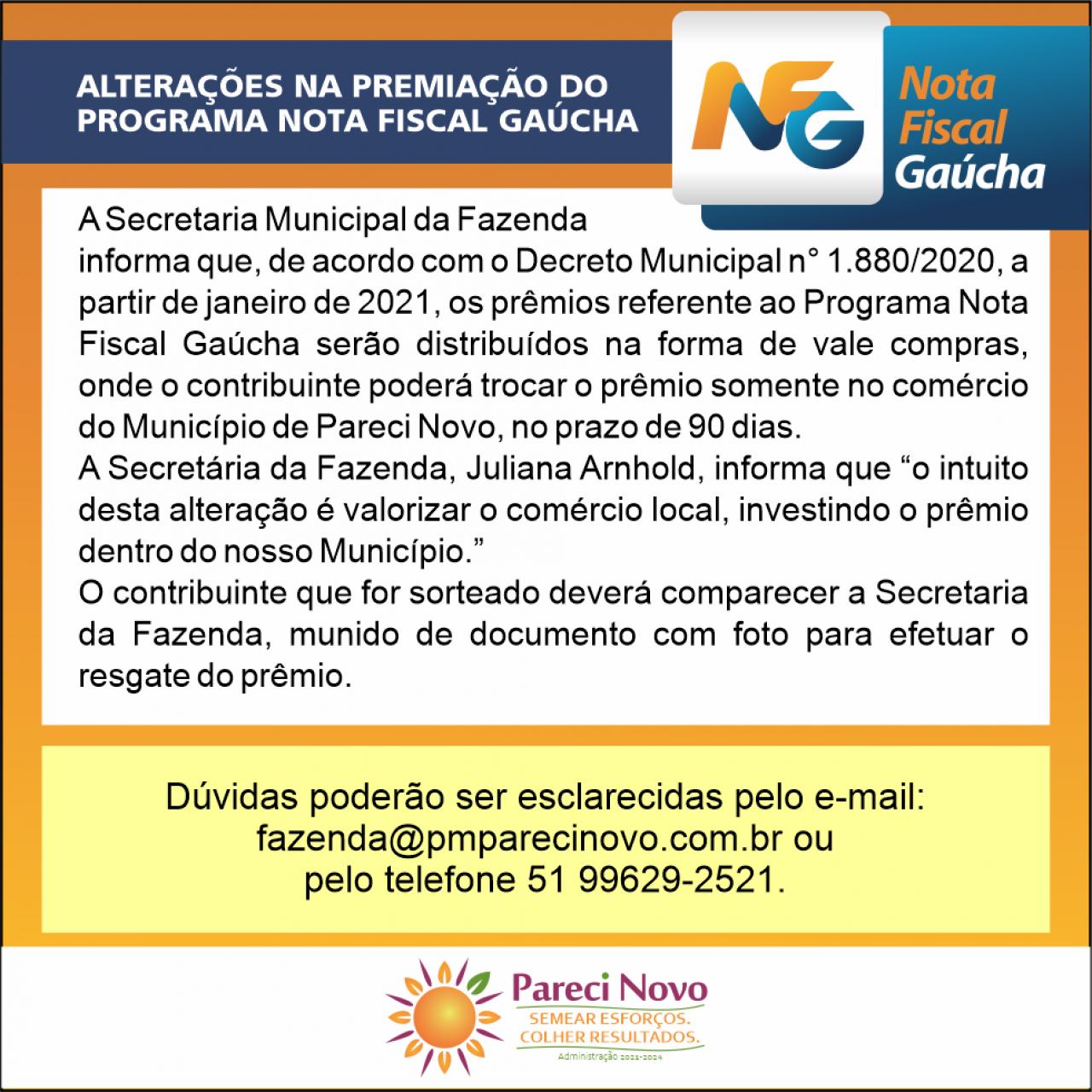 Informativo Nota Fiscal Gaúcha
