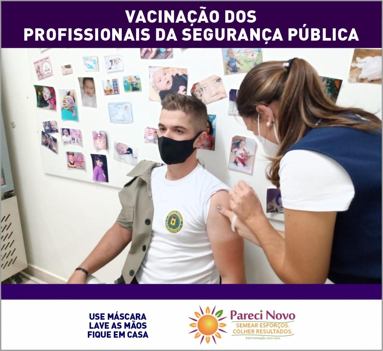 Vacina para os profissionais da Segurança